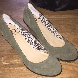 New Suede Wedges